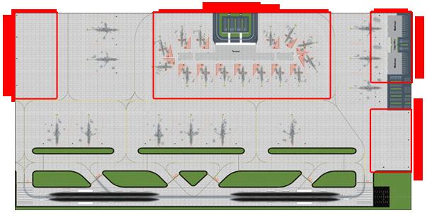 1:400 Single Runway #1 Model Airport
