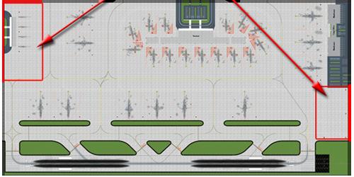 1:400 Single Runway #1 Model Airport - Option 2