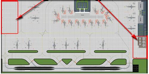 1:400 Single Runway #1 Model Airport - Option 3