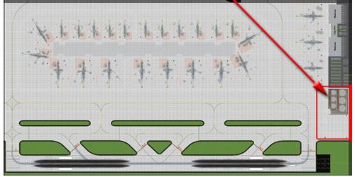 1:400 Single Runway Gemini - Option 3 Model Airport